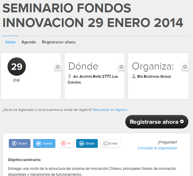 Seminar: Innovation funds in Chile