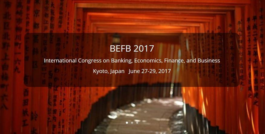 2017 International Congress on Banking, Economics, Finance, and Business